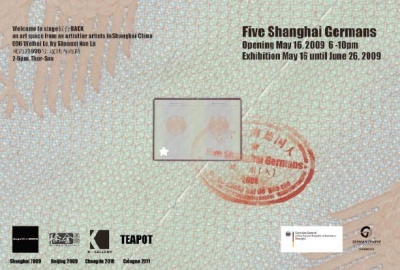 5 SHANGHAI GERMANS (group) @ARTLINKART, exhibition poster