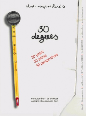 30 DEGREES (group) @ARTLINKART, exhibition poster