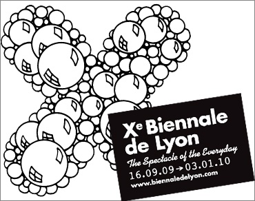 "XTH BIENNALE DE LYON ""THE SPECTACLE OF THE EVERYDAY"" (group) @ARTLINKART, exhibition poster"