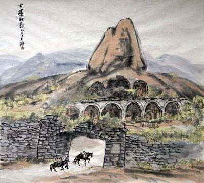 """画从真中来——""""松石友""""山水画展 (群展) @ARTLINKART展览海报"""