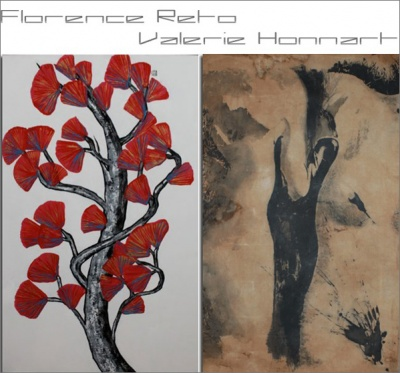 FLORENCE RETO AND VALERIE HONNART EXHIBITION (group) @ARTLINKART, exhibition poster