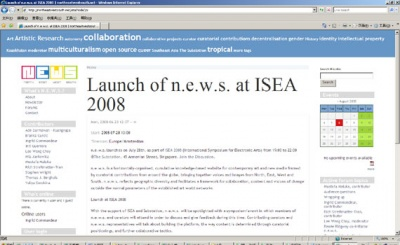 LAUNCH AT ISEA 2008 (group) @ARTLINKART, exhibition poster