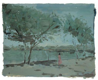 绘画, 布面油画, 720x950mm 艺术家: 吴海洲 绘画, 纸板丙烯, 880x62