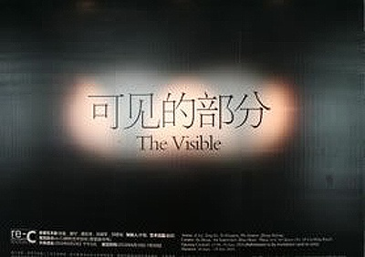 THE VISIBLE (group) @ARTLINKART, exhibition poster