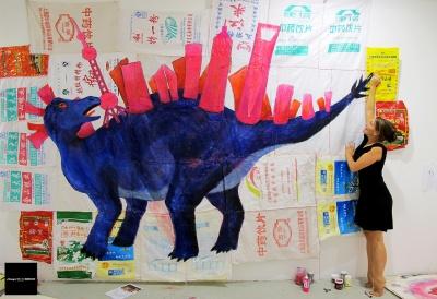 CORD OF REXA - BARBARA ANNA HUSAR SOLO EXHIBITION (solo) @ARTLINKART, exhibition poster