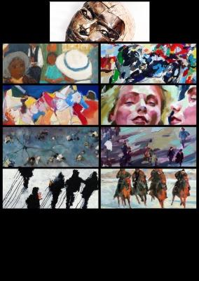 NOVELLE ESSOR IMPRESSIONNISTES FRANCAIS (group) @ARTLINKART, exhibition poster