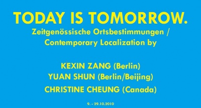 TODAY IS TOMORROW (group) @ARTLINKART, exhibition poster
