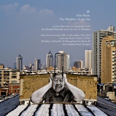 THE WRINKLES OF THE CITY BY JR (group) @ARTLINKART, exhibition poster