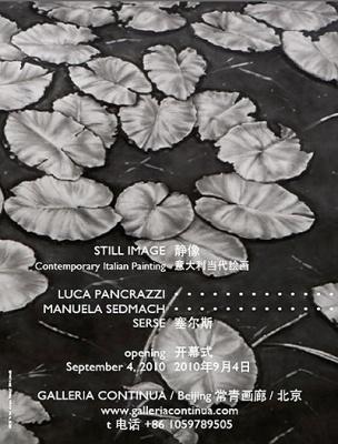 STILL IMAGE - CONTEMPORARY ITALIAN PAINTING (group) @ARTLINKART, exhibition poster