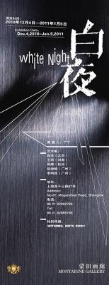 WHITE NIGHT (group) @ARTLINKART, exhibition poster