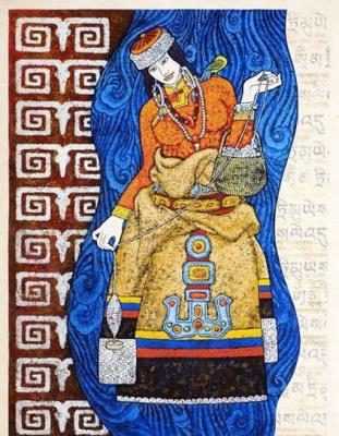"""藏族""""祥巴""""艺术展 (群展) @ARTLINKART展览海报"""