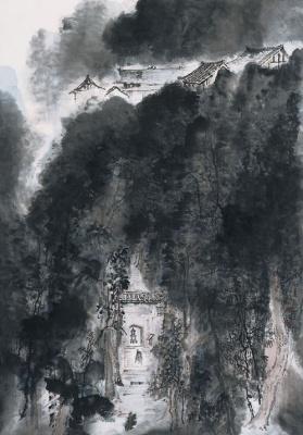 对话山水——水墨四人展 (群展) @ARTLINKART展览海报
