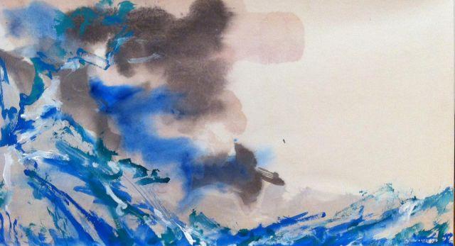 海洋 艺术家:山 飒 绘画   中国水彩画(宣纸)   690x385mm 展览宇宙