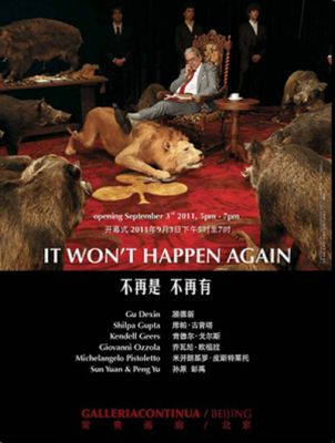 IT WON'T HAPPEN AGAIN (group) @ARTLINKART, exhibition poster
