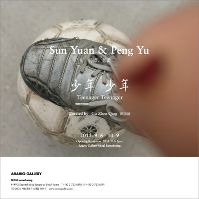 TEENAGER TEENAGER - SUN YUAN + PENG YU SOLO EXHIBITION (group) @ARTLINKART, exhibition poster