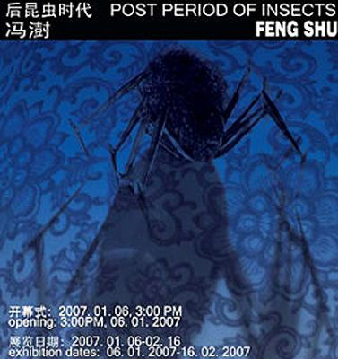 POST PERIOD OF INSECTS - FENG SHU SOLO SHOW (solo) @ARTLINKART, exhibition poster