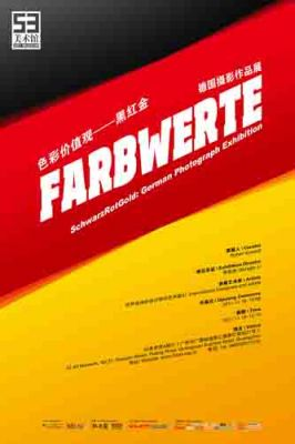 FARBWERTE - SCHWARTROTGOLD GERMAN PHOTOGRAPH EXHIBITION (group) @ARTLINKART, exhibition poster