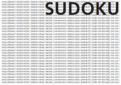 SUDOKU / GALERIE MICHAEL SCHULTZ (group) @ARTLINKART, exhibition poster