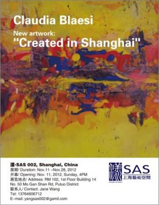 CLAUDIA BLAESI - CREATED IN SHANGHAI (solo) @ARTLINKART, exhibition poster