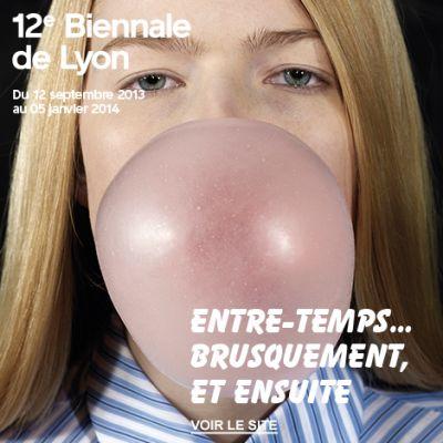 12TH BIENNALE DE LYON (intl event) @ARTLINKART, exhibition poster