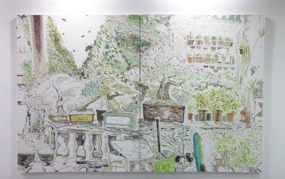 画廊展示空间效果图手绘