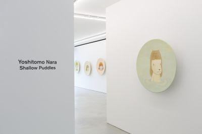 YOSHITOMO NARA- SHALLOW PUDDLES (solo) @ARTLINKART, exhibition poster