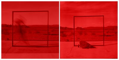 MAP - RED IN VIEW (solo) @ARTLINKART, exhibition poster