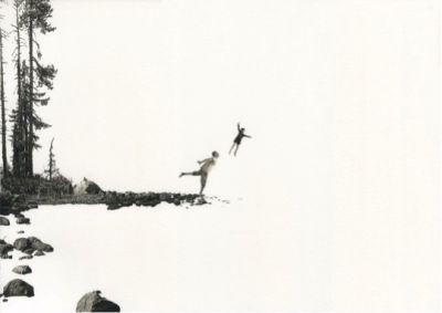 FABIEN MéRELLE - ÉTREINDRE (solo) @ARTLINKART, exhibition poster