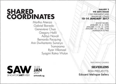 SHARED COORDINATES (group) @ARTLINKART, exhibition poster