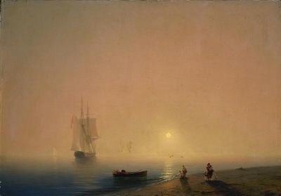 IVAN AIVAZOVSKY - THE 200TH ANNIVERSARY OF THE ARTIST'S BIRTH (solo) @ARTLINKART, exhibition poster