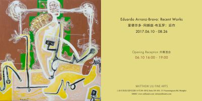 EDUARDO ARRANZ-BRAVO SOLO EXHIBITION - RECENT WORKS (solo) @ARTLINKART, exhibition poster