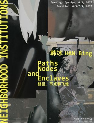 PATHS, NODES AND ENCLAVES (solo) @ARTLINKART, exhibition poster