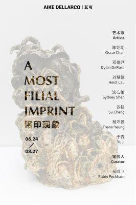 A MOST FILIAL IMPRINT (group) @ARTLINKART, exhibition poster