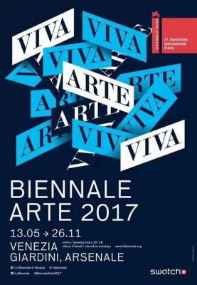 57TH VENICE BIENNALE, 2017 - VIVA ARTE VIVA (intl event) @ARTLINKART, exhibition poster