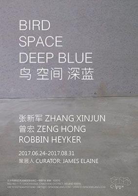 BIRD . SPACE . DEEP BLUE (group) @ARTLINKART, exhibition poster
