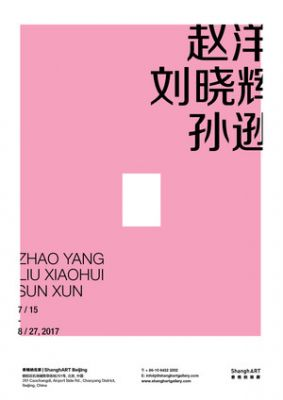 ZHAO YANG, LIU XIAOHUI, SUN XUN (group) @ARTLINKART, exhibition poster