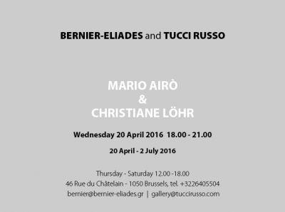 MARIO AIRò - CHRISTIANE LöHR (group) @ARTLINKART, exhibition poster