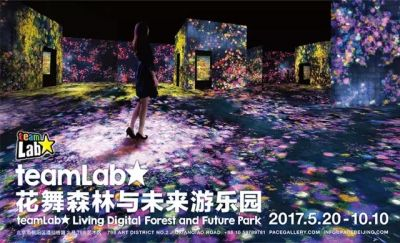 TEAMLAB - LIVING DIGITAL FOREST AND FUTURE PARK (solo) @ARTLINKART, exhibition poster