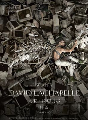 SCAPES - DAVID LACHAPELLE SOLO EXHIBITION (solo) @ARTLINKART, exhibition poster
