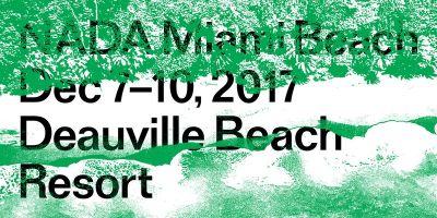 THE GREEN GALLERY@2017 NADA MIAMI BEACH (art fair) @ARTLINKART, exhibition poster