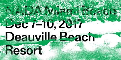 ANTOINE LEVI@2017 NADA MIAMI BEACH (art fair) @ARTLINKART, exhibition poster