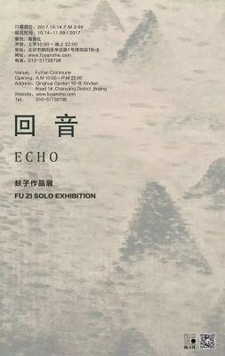 ECHO - FU ZI SOLO EXHIBITION (solo) @ARTLINKART, exhibition poster