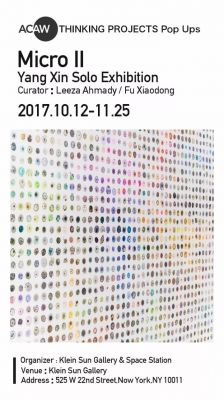 MICROⅡ- YANG XIN SOLO EXHIBITION (solo) @ARTLINKART, exhibition poster