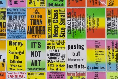 ALLEN RUPPERSBERG - THE NOVEL THAT WRITES ITSELF (solo) @ARTLINKART, exhibition poster