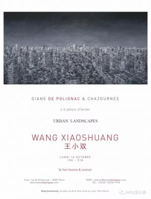 URBAN LANDSCAPES - WANG XIAOSHUANG SOLO EXHIBITION (solo) @ARTLINKART, exhibition poster