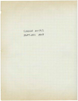 MEL BOCHNER - SINGER NOTES (solo) @ARTLINKART, exhibition poster