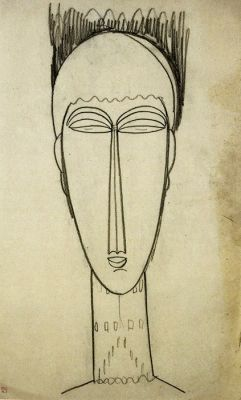 MODIGLIANI UNMASKED (solo) @ARTLINKART, exhibition poster