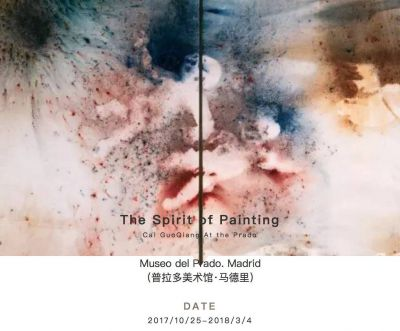 THE SPRITE OF PAINTING - CAI GUOQIANG AT THE PRADO (solo) @ARTLINKART, exhibition poster