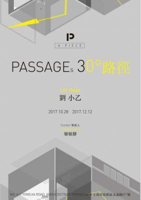 LIU XIAOYI - PASSAGES 30° (solo) @ARTLINKART, exhibition poster