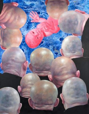 FANG LIJUN - THIS ALL TOO HUMAN WORLD (solo) @ARTLINKART, exhibition poster